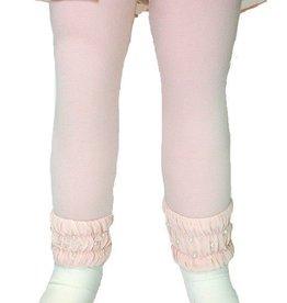 Mae Li Rose Mauve Leggings with Pearl Detail