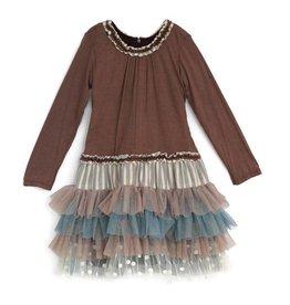 Isobella & Chloe Nutmeg Drop Waist Dress