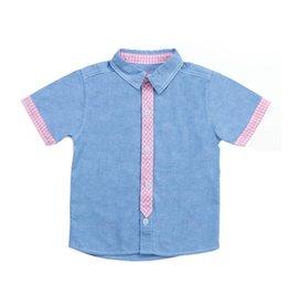 Kapital K Blue Chambray Button Down Shirt