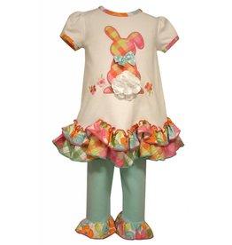Bonnie Baby Plaid Peter Cotton Tail Tunic Set