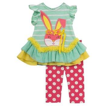 Bonnie Baby Flower Crown Bunny Tunic Set