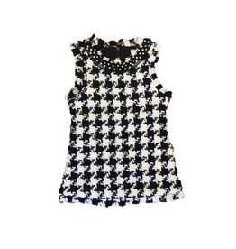 MLKids Sleeveless Houndstooth Shift Dress