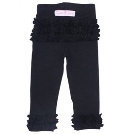 RuffleButts Black Everyday Ruffle Leggings