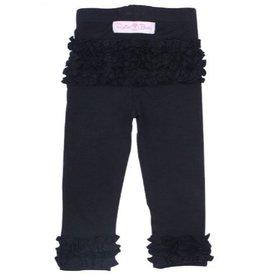 RuffleButts Black Everyday Ruffle Leggings