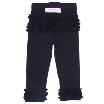 Ruffle Butts Black Everyday Ruffle Leggings