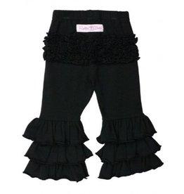 RuffleButts Black Everyday Ruffle Pants