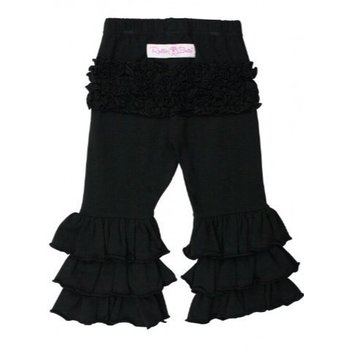 Ruffle Butts Black Everyday Ruffle Pants