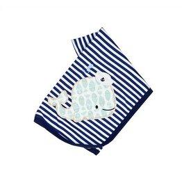 Haute Baby Whale Tale Boy Blanket
