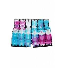 Venice Tie Dye Boy Shorts Blue Purple & White