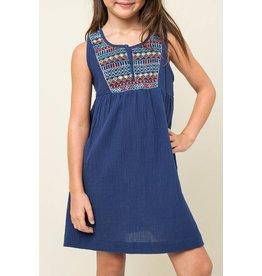 Hayden Blue Embroidered Tunic Dress