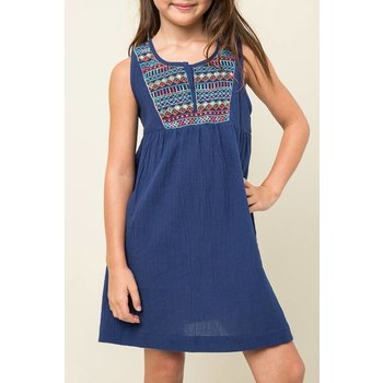 Hayden Blue Embroidered Tunic Dress