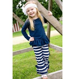 Rugged Butts Navy Stripe Everyday Flare Pants