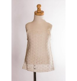 MLKids White Lace Flower Tank Top