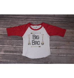 Rockin AB Big Bro Red Raglan Tee