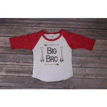 Rockin AB Big Bro Red Raglan Tee