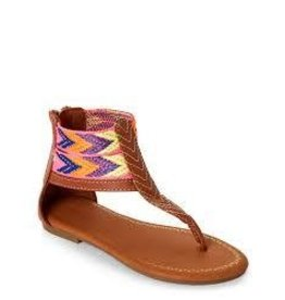 Nanette Lepore Brown Multi-Colored Ankle Band Sandal