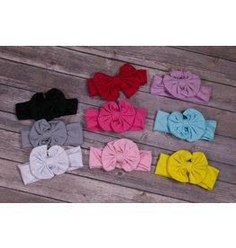 Solid Fabric Bow Headband