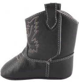 Baby Deer Grey Square Toe Western Boot