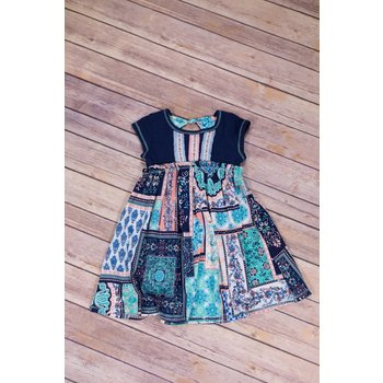 Pink Vanilla Navy Patchwork  Dress