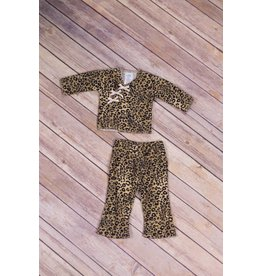 Premie Yums Leopard Kimono and Pant
