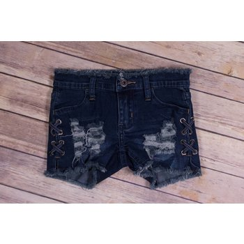 Vintage Havana Stitch Cut Off Jean Shorts