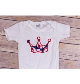Cuddle Couture Baseball Crown Onesie