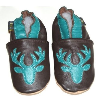 Helene's Closet Leather Teal Deer Shoe