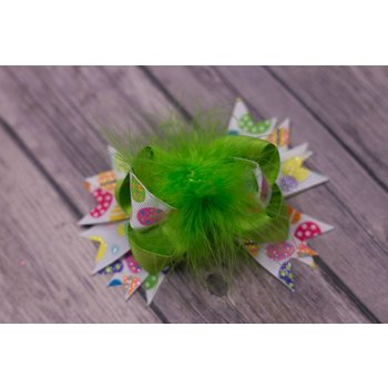 Easter Lime Green 3.5in Bouitque Bow