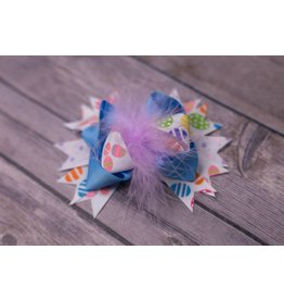 Easter Purple Feathered 3.5in Boutique Bow