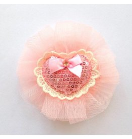 Mae Li Rose Vintage Light Pink Heart Clip
