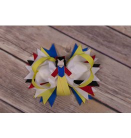 Snow White Ribbon Figure 4 in. Boutique Bow