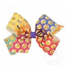 Wee Ones King Rainbow Emoji Bow