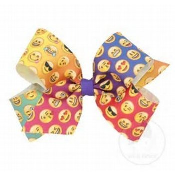 Wee Ones King Rainbow Emoji Bow