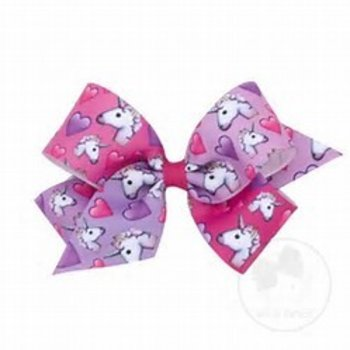 Wee Ones Large Emoji Unicorn Bow