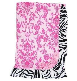 Haute Baby Sweet N' Sassy Zebra Receiving Blanket