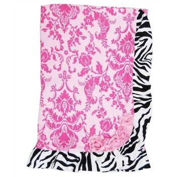 Haute Baby Sweet N' Sassy Zebra Receiving Blanket