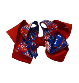 Reflectionz Red and Blue Fourth of July Double Bow