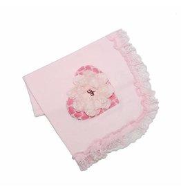Haute Baby Sassy Hearts Receiving Blanket