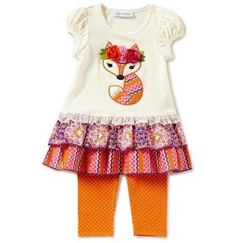Bonnie Baby Fox Applique Tunic And Legging Set