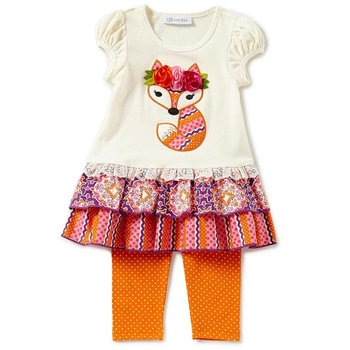 Fox Applique Tunic And Legging Set