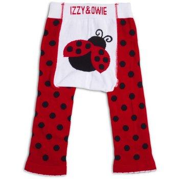 Izzy & Owie Red & Black Ladybug Leggings
