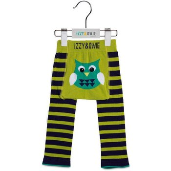 Izzy & Owie Navy and Green Owl Leggings