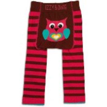 Izzy & Owie Pink & Maroon Owl Leggings