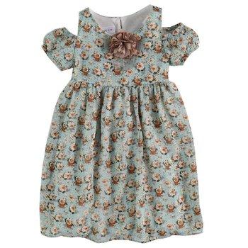 Cold Shoulder Flowered Dress