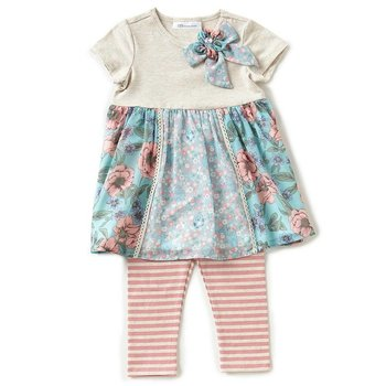 Bonnie Baby Floral Forest Friends Tunic And Legging Set