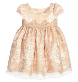 Bonnie Jean Blush Dress with Gold Detailing