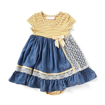 Bonnie Baby Blue Dress with Lace Detail