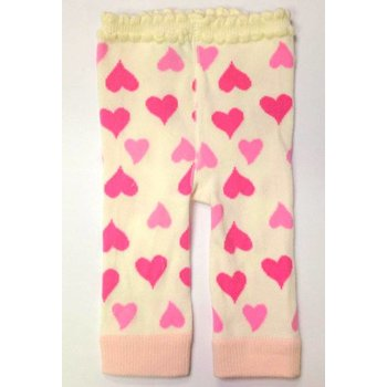 K & K Interiors, Inc. Ivory Leggings with Hearts
