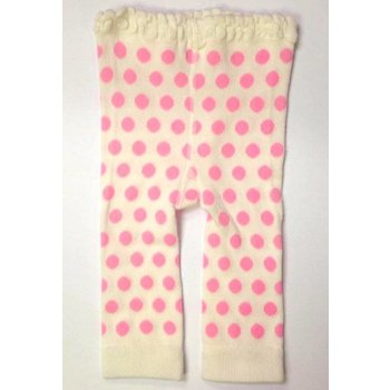 K & K Interiors, Inc. White Leggings with Pink Polka Dots