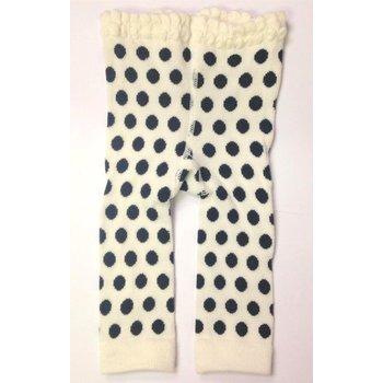 K & K Interiors, Inc. White and Black Polka Dot Legging